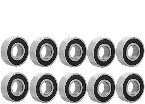 10Pcs 6202-2Rs 15X35X11Mm Rodamientos de Bolas de Acero de Ranura Profunda de Doble Cara sellada de Goma