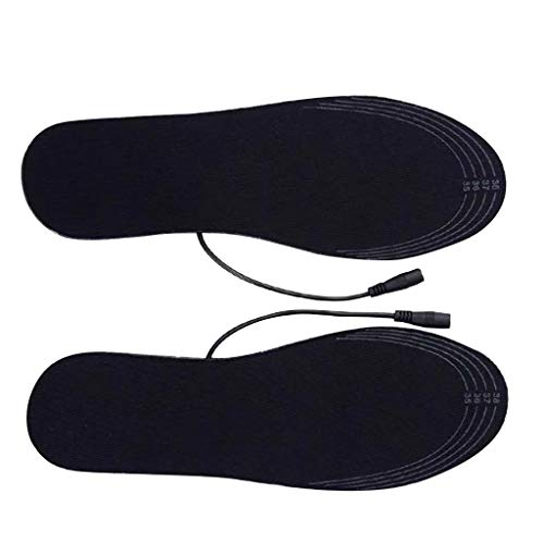 Fine USB Electric Heated Insoles, Electric Pads Winter Foot Warmers Rechargeable Shoes Boot Heater Heating Insoles Feet Warmth-Keeping Reusable for Men and Women (B)