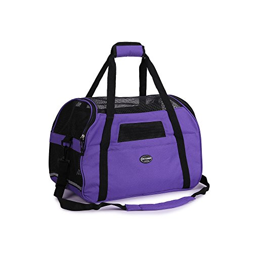 Haustiertragetasche, für Hunde und Katzen, komfortabel, weiche Innenseiten mit Unterlage, von Fluggesellschaft zugelassen
