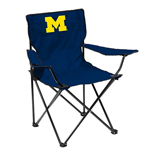 Logo Brands NCAA Michigan Wolverines Unisex Adult Quad Chair with Single Cup Holder Blue One Size