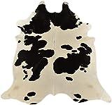 generisch Kuhfelle - Alfombra de piel de vacuno (210 x 200 cm), color negro y blanco