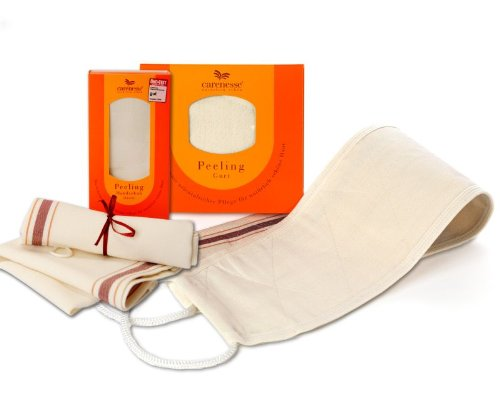 "Carenesse Peeling-Set Klein, 1 Peelinggurt für den Rücken & 1 Peelinghandschuh Classic für den Körper mit Ökotest ""GUT"", Körperpeeling, Rückenpeeling"