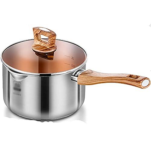Vapor/olla de sopa/pequeño olla de leche 304 de acero inoxidable de acero inoxidable espesado olla olla de cocción de inducción (Size : A)