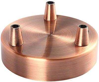 Girard Sudron Lampen Baldachin Metall 3 Fach Kupfer 3 Kabelauslässe Ø 10 Cm X 2 5 Cm Beleuchtung