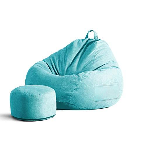 SD Grande Fauteuil/Pouf Poire/Bean Bag Chaise/Sige/avec Mousse Ultra Confortable/avec Repose-Pied/A des Poches Latérales/pour Enfants Et Adultes/90 * 110 cm