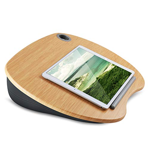 HUANUO Wooden iPad Stand for Lap