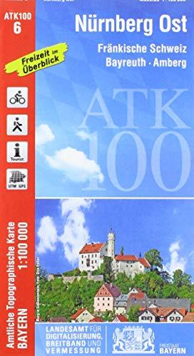 ATK100-6 Nürnberg Ost (Amtliche Topographische Karte 1:100000): Fränkische Schweiz, Bayreuth, Amberg, Neumarkt i.d.Opf., Fürth, Grafenwöhr, Bamberg, ... Topographische Karte 1:100000 Bayern)