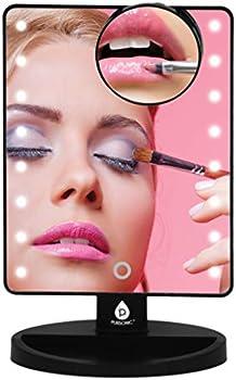 Pursonic LED Lighted Vanity Bright Light Makeup Mirror