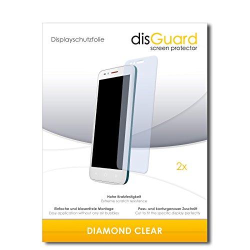 disGuard 2 x Bildschirmschutzfolie Alcatel One Touch Go Play Schutzfolie Folie DiamondClear unsichtbar