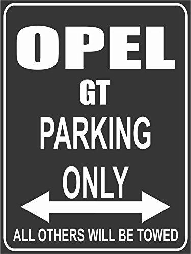 INDIGOS UG Park-opel-GT Parkplatzschild, Schwarz