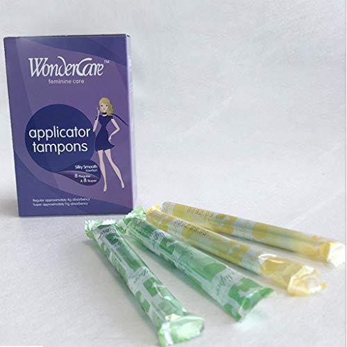Tampons aus Bio Baumwolle (16 Stück Tampons) | Tampons mit plastik | Tampons Organic | Pure Bio Tampons | Damenhygiene Intimpflege Menstruationsschwämmchen