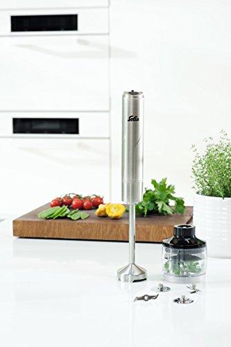 Solis staafmixer, 4 opzetstukken, multimessen, vlees- en groentemessen, slagschijf, garde, koude en warme gerechten, X-Change Mixer