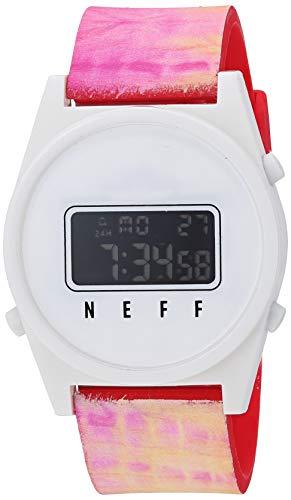 neff Men's Analog-Quartz Sport Watch with Plastic Strap, Multi, 23 (Model: NF0245-1
