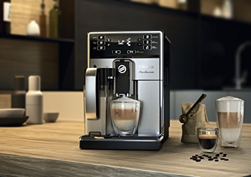 Saeco picobaristo super automatic espresso machine, 1. 8 l, stainless steel, hd8927/47 15 easily select one of 15 delicious drinks, or customize it to your taste with coffee equalizer and save it to one of 6 user profile our patented aquaclean water filter eliminates the need to descale for up to 5,000 cups get superior taste for 20,000 cups with our durable ceramic grinders