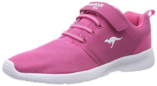 KangaROOS Hinu Ev dziecięce buty sportowe uniseks, czerwony - Rot Daisy Pink - 39 EU