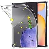 Yoedge Funda para Samsung Galaxy Tab S6 Lite 10,4', Carcasa Silicona Gel TPU Transparente con Dibujos Diseño Smart Case Cover Antigolpes Piel de Protector Tableta para Samsung Tab S6 Lite, Príncipe