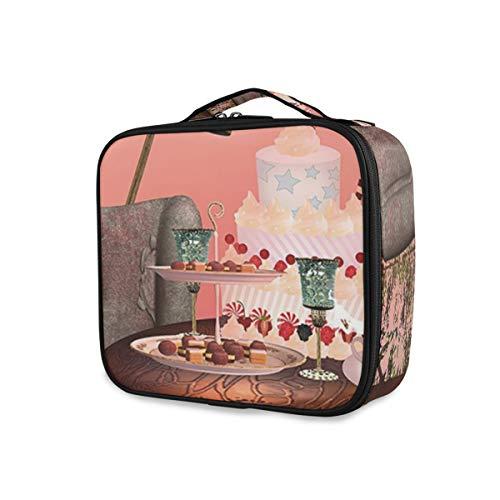SUGARHE Geburtstag Alice im Wunderland mit Kuchen Schmetterlings magischer Waldkarikatur,Kosmetik...
