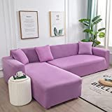WXQY Fundas de Color Liso Funda de sofá elástica elástica protección para Mascotas Funda de sofá Esquina en Forma de L Funda de sofá Todo Incluido A2 3 plazas
