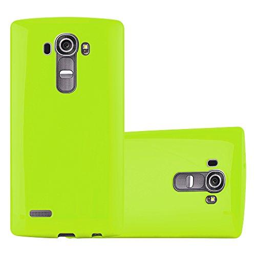 Cadorabo Custodia per LG G4 / G4 Plus in Jelly Verde - Morbida Cover Protettiva Sottile di Silicone TPU con Bordo Protezione - Ultra Slim Case Antiurto Gel Back Bumper Guscio