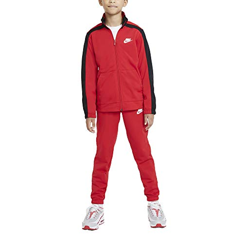 NIKE U NSW HBR Poly Tracksuit Chndal, University Red/Black/(White), X-Large Unisex niños