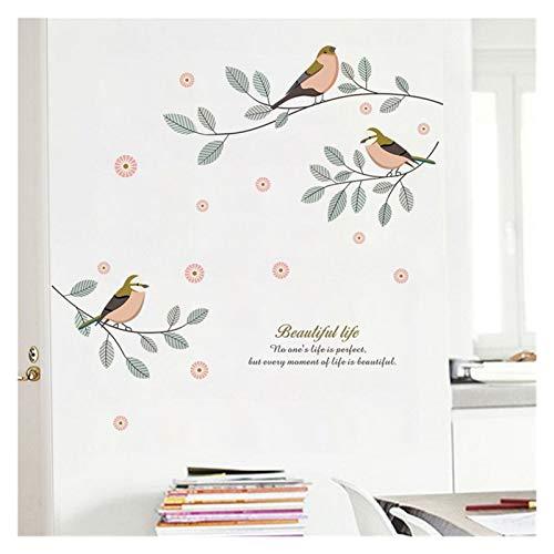 SRQOESFF Pegatinas de Pared Detalles de la Pared de la Pared Sala de la Sala Dormitorio Detalle Decoración PVC Pegatinas de Pared DIY Mural Art Decorative Posters (Color : HM0985)