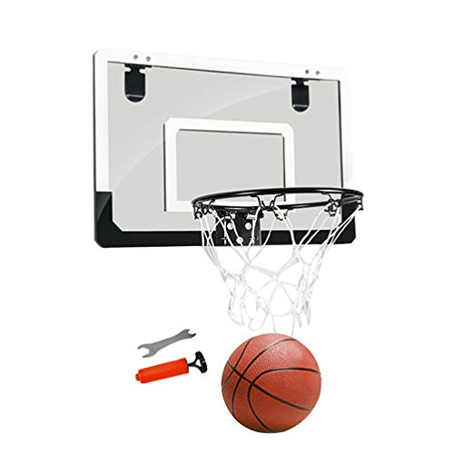BESPORTBLE Tür Hängen Basketball Board Kein Stanzen Hängen Basketballplatte Transparente Aufhängung Basketball Board Mini Backboard