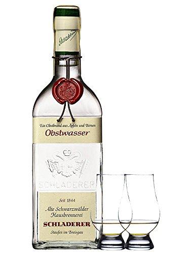 Schladerer Obstwasser aus Äpfel und Birnen - Deutschland + 2 Glencairn Gläser
