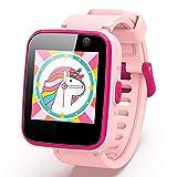agptek smartwatch per bambini e ragazzi con micro sd 8gb, touchscreen 1.54, telefono, sos, sveglia, fotocamera, lettore musicale, regalo ragazzo(rosa)
