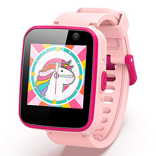 """AGPTEK Smartwatch per Bambini e Ragazzi con Micro SD 8GB, Touchscreen 1.54"""", Telefono, SOS, Sveglia, Fotocamera, Lettore Musicale, Regalo Ragazzo(Rosa)"""