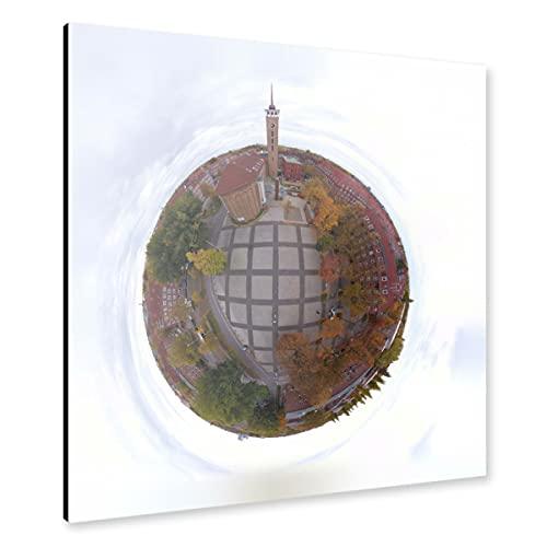 artboxONE Alu-Print 30x30 cm Frohbotschaftskirche HH-Dulsberg von Künstler Dienstleistungsdrohne.de