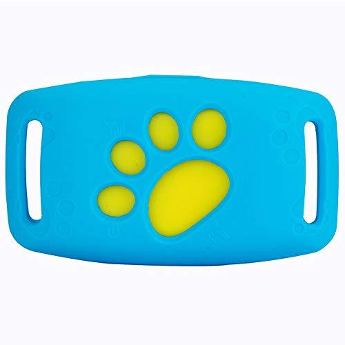 ShangSky - Rastreador GPS para perros y gatos, resistente al agua, dispositivo de entrenamiento para perros con aplicación y localización GPS en tiempo real, LtD-dwq10154b, azul, 65,5 * 37,7 * 18,3 mm