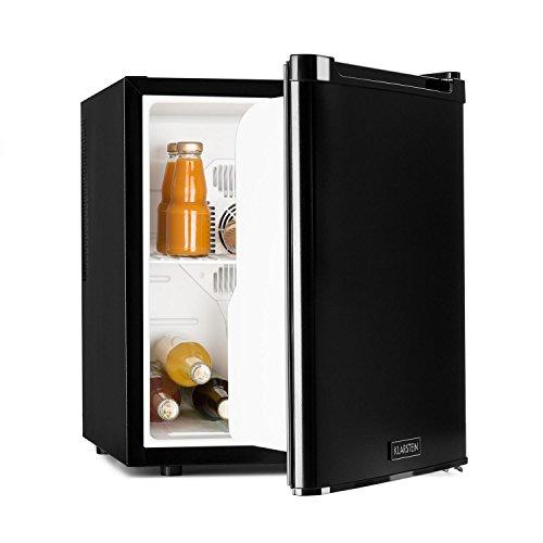 Klarstein Cooltour - Minibar, Frigorifero, Frigo per bevande, 48 litri, ca. 43 x 50 x 48 cm (LxAxP), Molto silenzioso, Verso dell'apertura della porta variabile, 35dB, Potenza 70 W, Nero