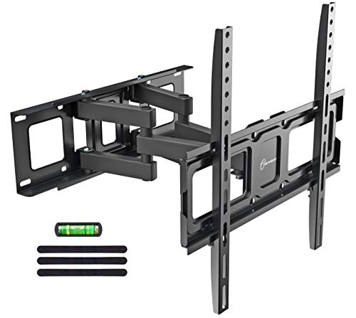 """Dual Articulating Arms TV Wall Mount Bracket fits to Most 32""""-55"""" inch LED,LCD,OLED Flat Panel TVs, Tilt Full Motion Swivel 14.1"""" Extension, Max VESA 400X400, 80lbs Loading-by EVERVIEW"""