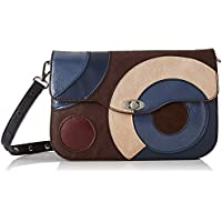Desigual Bag Covenant Amorgos, Bandolera para Mujer, Marrón (Chocolate), 16x6x26 centimeters (B x H x T)