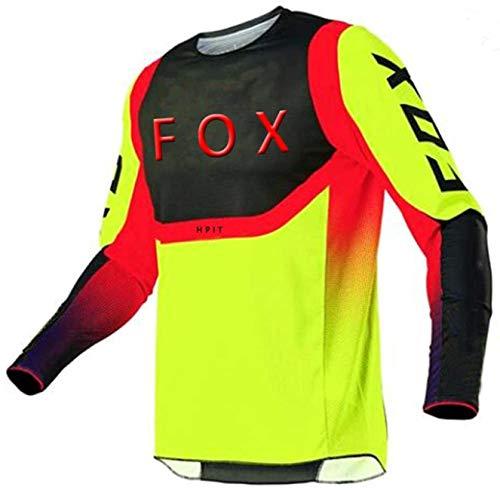 Ropa de Ciclismo de Carretera para Hombres, MTB Jersey Raceface, Jerseys de Descenso para Hombres Hpit Fox Mountain Bike MTB Camisas Offroad Dh Motorcycle Jersey Motocross Sportwear S