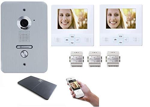 2x4 Zoll LCD Monitor Türsprechanlage Video Gegensprechanlage WLAN Schnittstelle