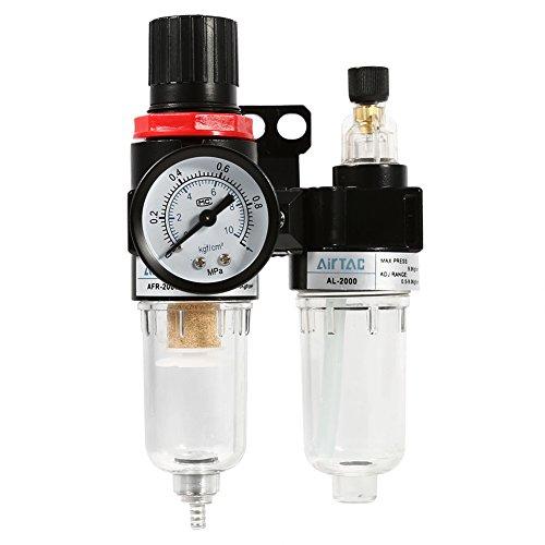 レギュレータウォーター エアー 空気圧レギュレータ 空気圧調整器 水分離器 フィルター 圧力計 エアー 圧縮調節と水分除去に エアフィルター エアブラシ 水抜き オイル混合