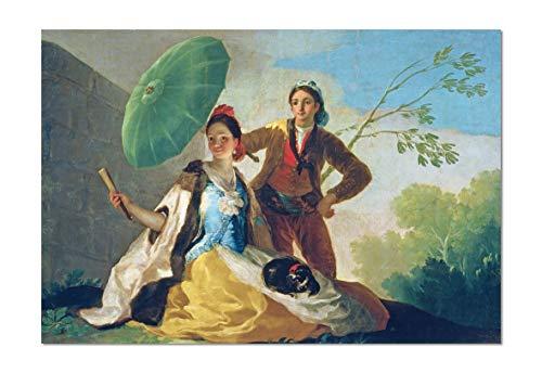 ART ALPHA - Kunstdruck - Francisco Jose de Goya y Lucientes - Der Sonnenschirm Poster (116 x 80 cm)