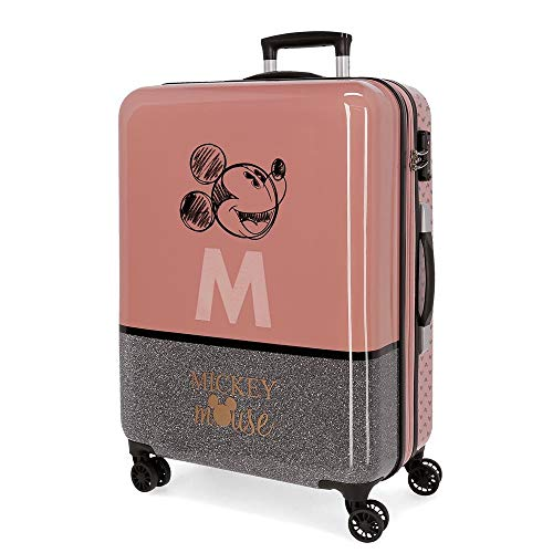 Disney  Mickey The Blogger Medium Suitcase,Pink 45x67x26 cms