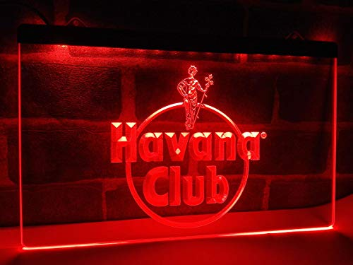 Havana Club Ron LED luz de neón Sign Man Cave a218-r
