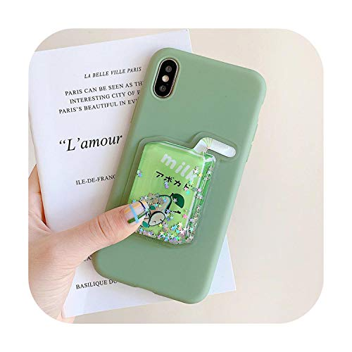 Who-Care Cherry Case Voor Xiaomi Voor Redmi Note 4 4X 7 Back Cover Op Voor Redmi 7 K20 4A 5 5A 6 Pro 6A Zachte Silicone 3D Cartoon Telefoon Coque, for Redmi 5A, Groene drank