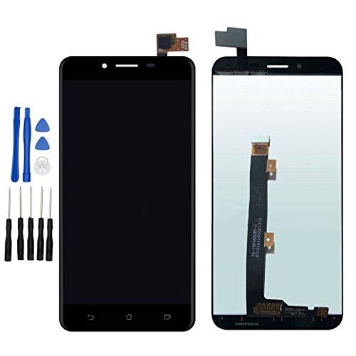 ixuan Pour ASUS ZenFone 3 Max 5.5' ZC553KL X00DD Vitre Tactile Ecran LCD Assemblé ( Non Châssis ) de Remplacement (Noir)