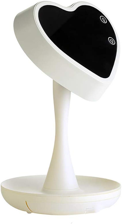 PENNY73 Desktop Mirror Tischlampe Ergnzung Licht Schminkspiegel mit LED Licht Make-up Spiegel Stufenlose Dimmbar Beleuchtungsmodi