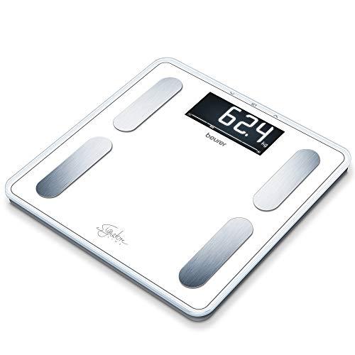 Beurer BF 400 white Diagnosewaage Signature Line, präzise Körperanalyse für bis zu 10 Personen, mit extra großem Invers-LCD-Display, Tragkraft bis 200 kg