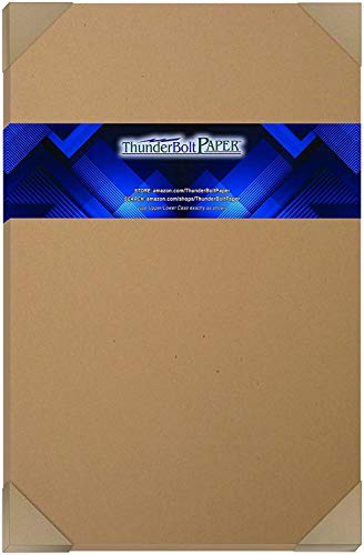 "100 Brown Kraft Fiber 28/70# Text Paper Sheets - 12"" X 18"" - 70lb/pound (not cardstock) Weight (12X18 Inches) Large