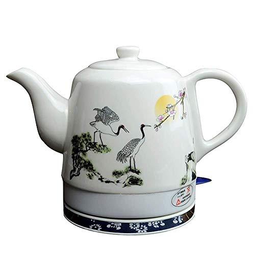 Bouilloires électriques en céramique Bouilloire sans fil Teapot-Retro Rouge 1 L Jug, rapide for thé d'eau rapide 8bayfa