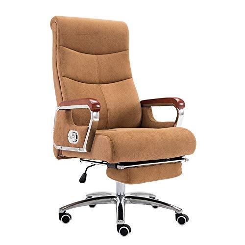 Daily Equipment Chair Computerstuhl Ergonomischer Schreibtischstuhl mit Fußstütze Rückenlehne mit hoher Rückenlehne Liegestuhl Höhenverstellbarer Gaming-Stuhl Computer-Schreibtischstuhl aus Baumwol