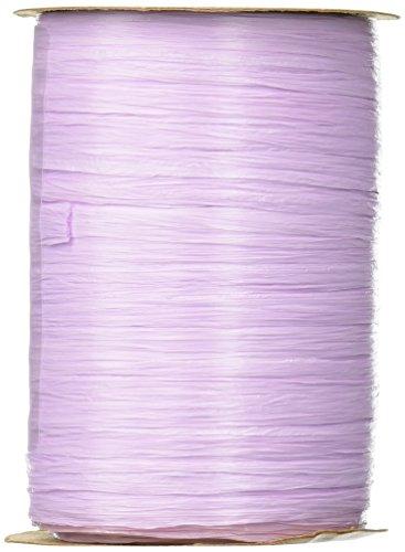 Berwick Craft Matte 1/4'' Wide Raffia Ribbon, Lavender Purple, 100 Yards