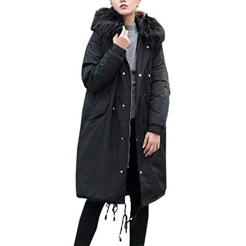 Great Price! Women Plush Overcoat Winter Fleece Long Sleeve Outdoor Wind Warm Jacket Coat Hooded Zip...