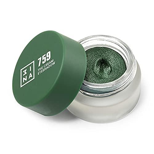 3ina Makeup, Vegano, Cruelty Free, The Cream Eyeshadow 759, Ombretto Crema Glitter, Eye...